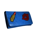 Wallet Embroidered Blue