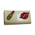 Wallet Embroidered Nude