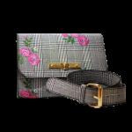 Belt Bag - Plaid with pink floral