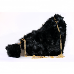 Crossbody Bag - Fluffy Heart Black