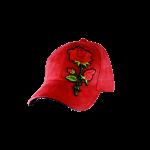 Cap Suede Flower Red