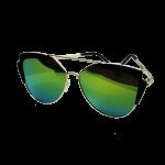 Sunglasses Green Cat Eye (round)