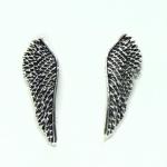 Stud Earrings Large Angel Wings