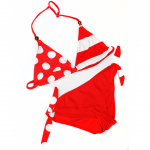 Bikini - Red & White Colour Block