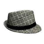 Fedora Hat Black Houndstooth