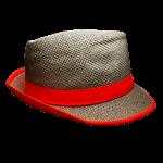 Fedora Hat - Canvas Neon Orange Band