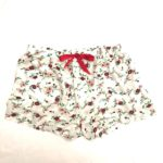 Casual Shorts White with Red Floral