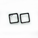 Stud Earring - Silver Round Square
