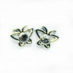 Stud Earring - Silver Butterfly