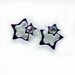 Stud Earring - Silver Double Star