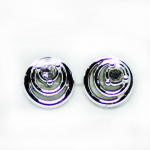 Stud Earring - Silver Double Circles