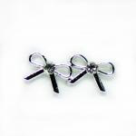 Stud Earring - Silver Bow
