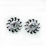Stud Earring - Silver Sun