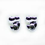 Stud Earring - Silver Cherry's