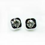 Stud Earring - Silver Diamond Square