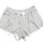 Casual Shorts White with Black Polka Dots