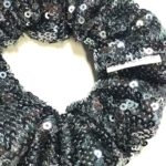 Deluxe Scrunchies Black Sequence
